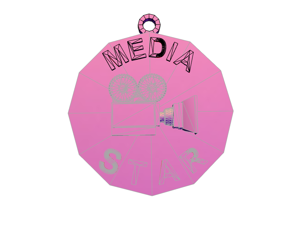 media_star_hanger - 3D design by jbrady2 Apr 12, 2018