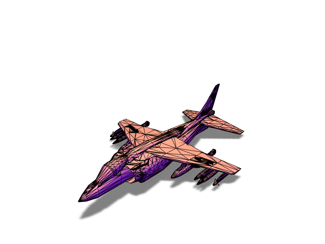 harrier jet - 3D design by Trevor Townsend May 21, 2018
