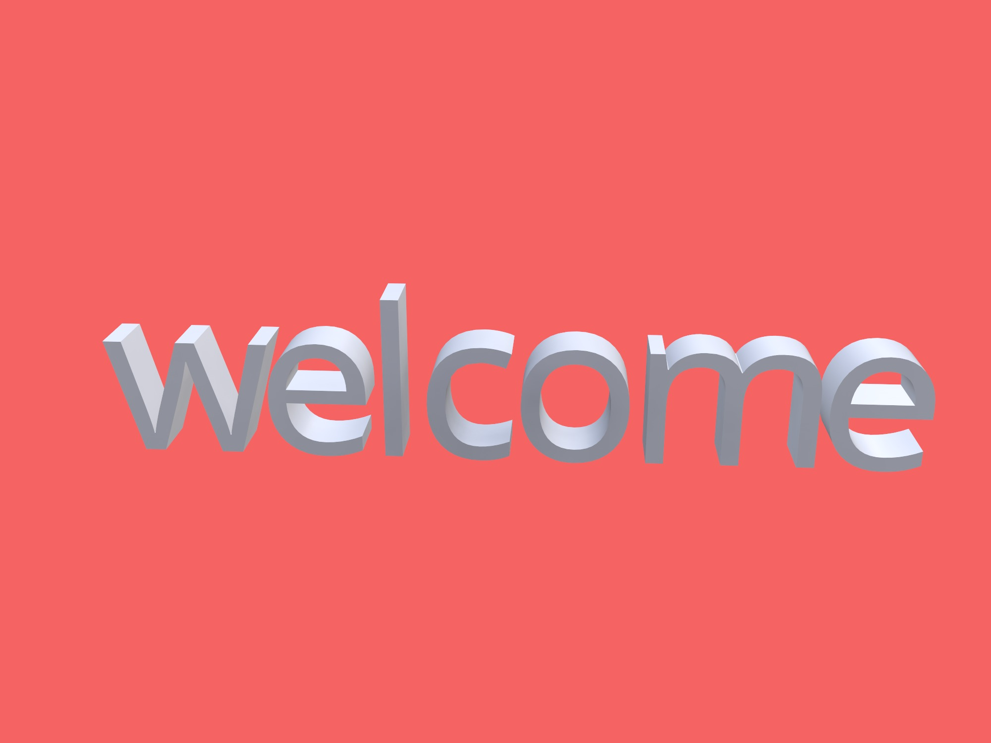 welcome (copy) - 3D design by e11ison on Jan 15, 2019
