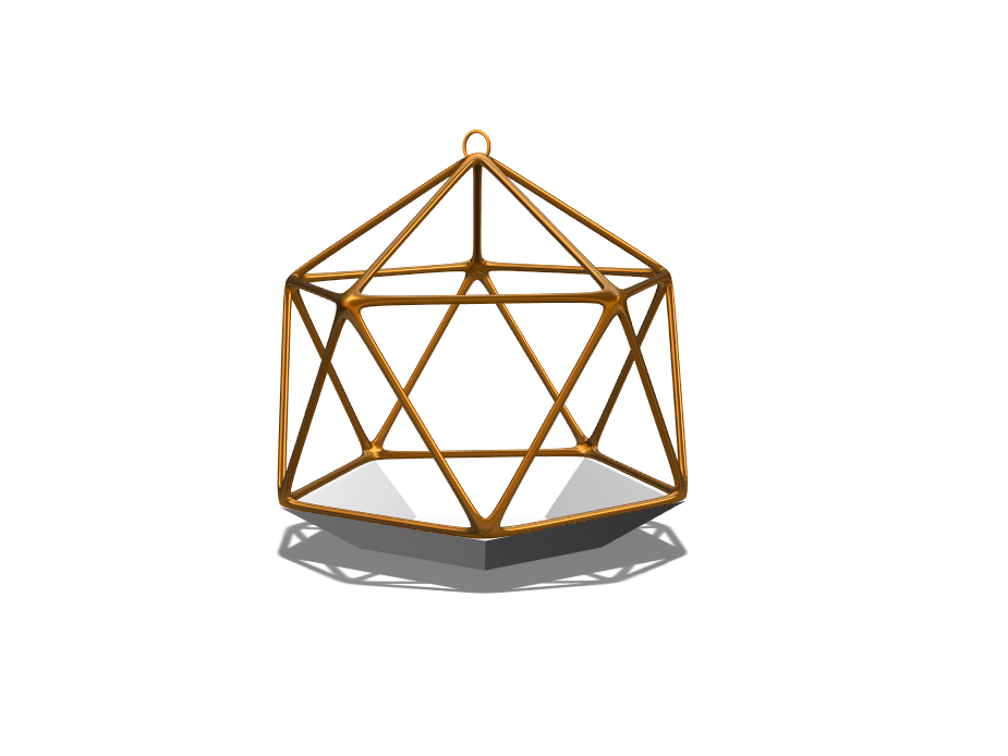 Geometric hanging ornament  - 3D design by Dandy Andy Dec 19, 2017