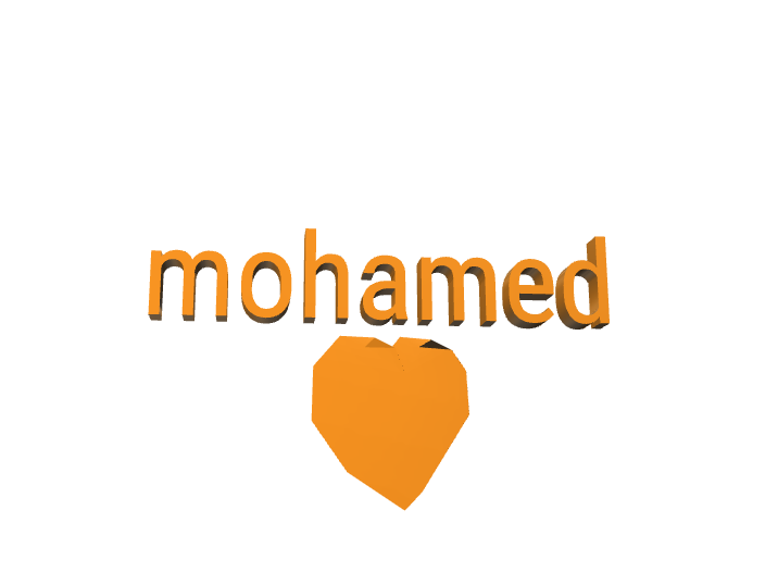 mohamed - 3D design by m7md _dz on Dec 1, 2017