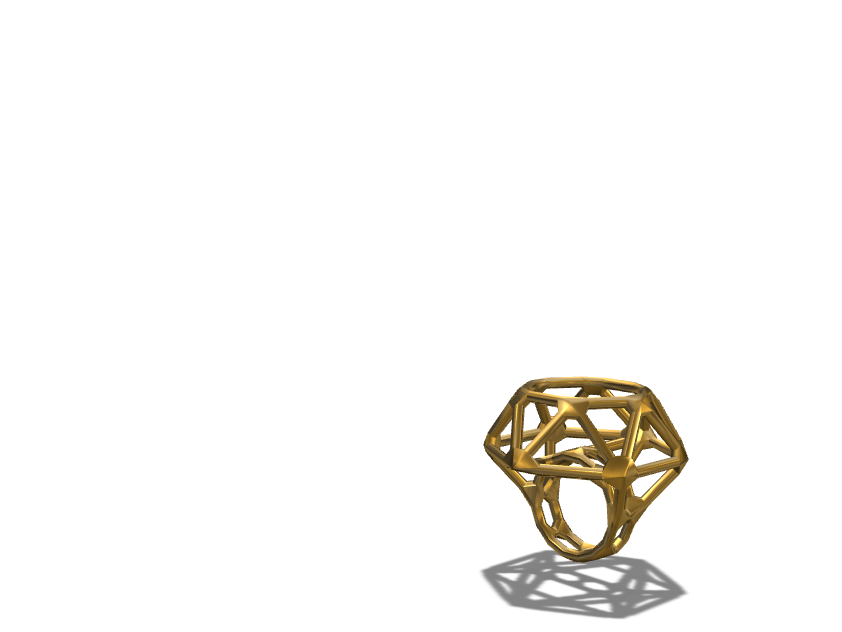 Gold ring - 3D design by hisrani.23 Nov 14, 2017