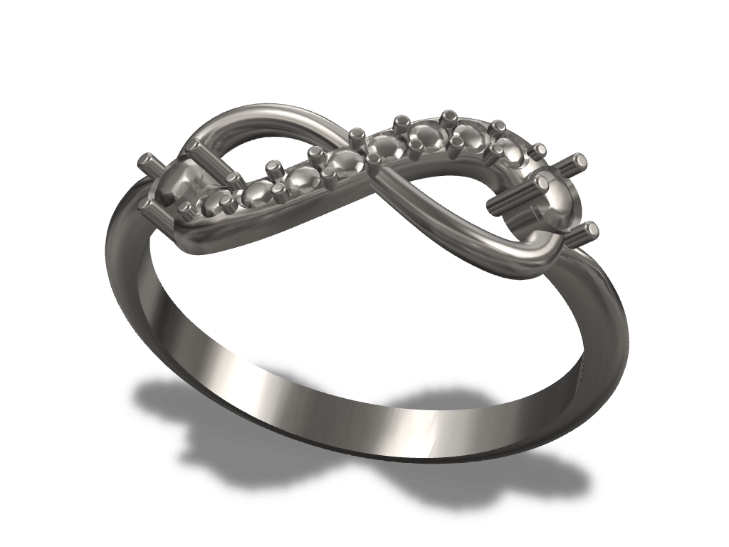 Infinity ring - 3D design by Cookie Dough on Sep 23, 2017
