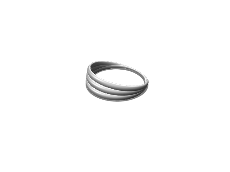 3Bands Ring - 3D design by Genny Pierini Sep 15, 2017