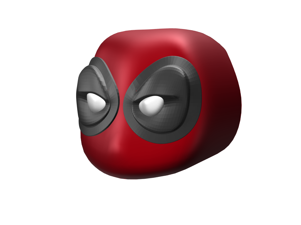 Toy Deadpool Head - 3D design by Hla Phone Shwe Mar 7, 2018