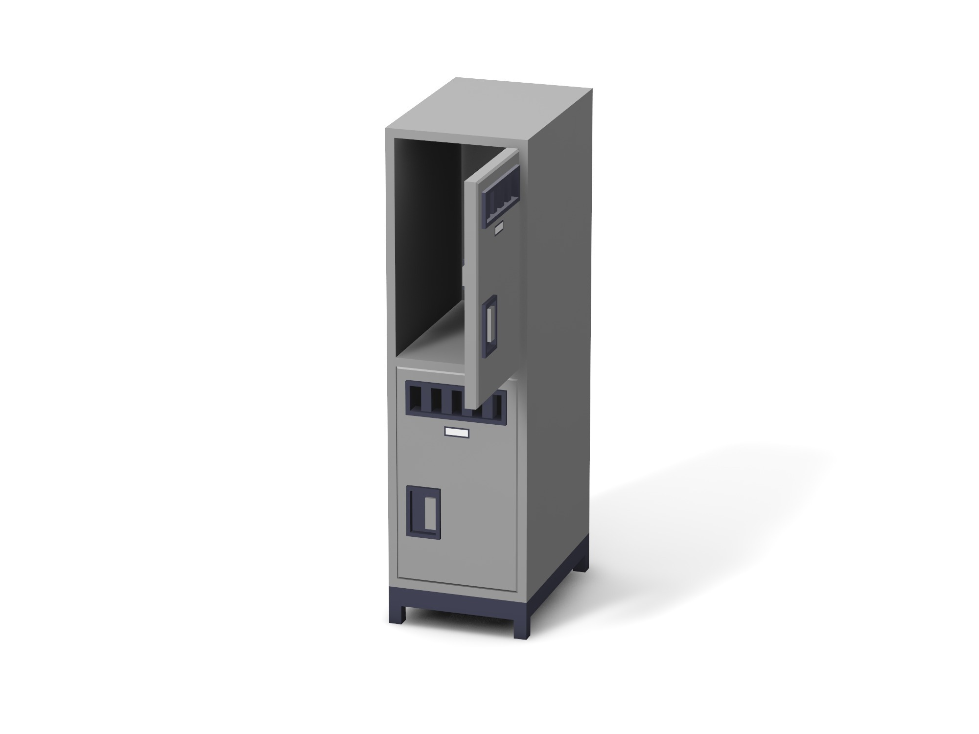 Opened locker low poly - 3D design by Vectary assets Aug 14, 2018