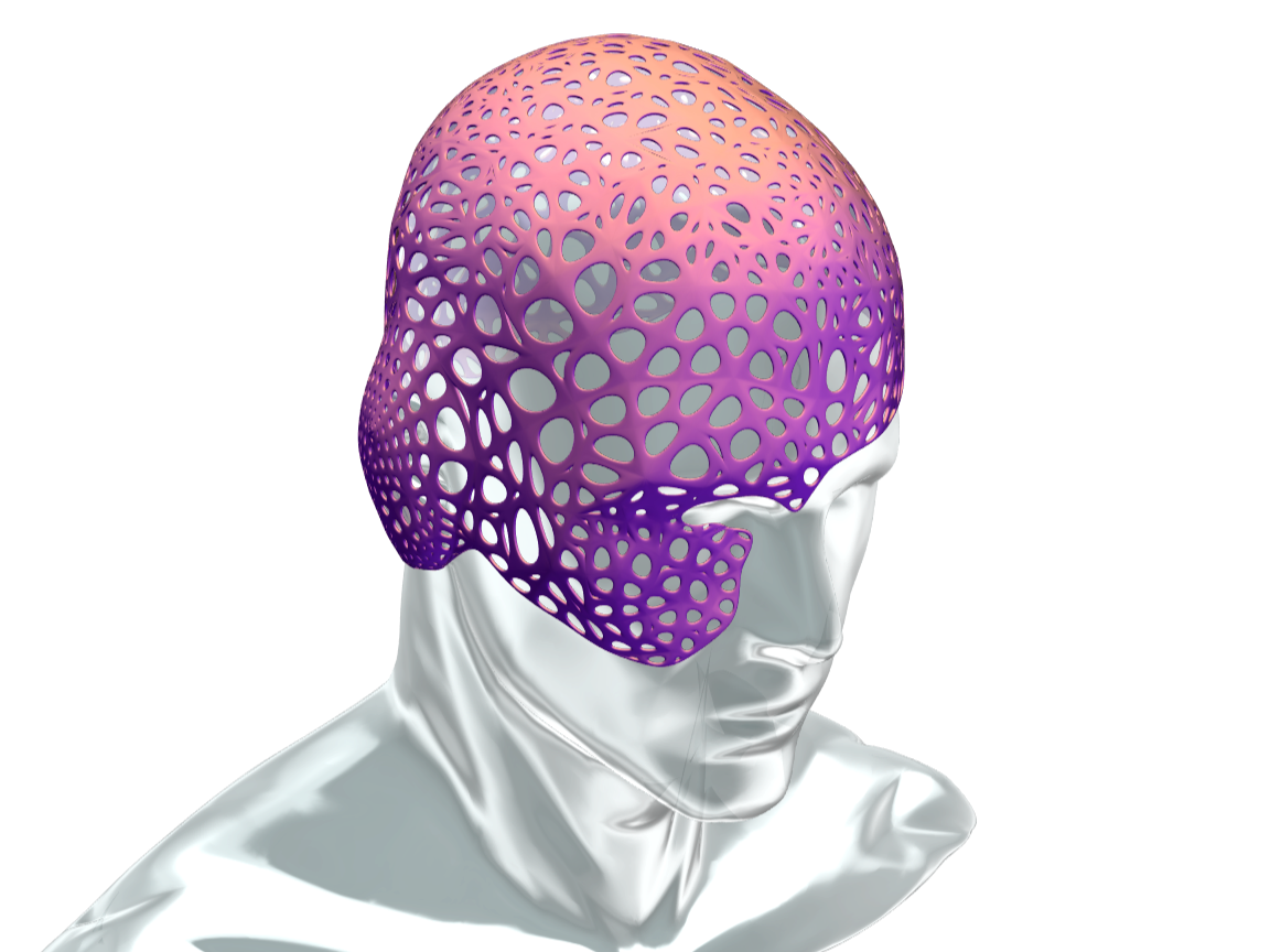 voronoi head mask - 3D design by Andy Klement Dec 29, 2017