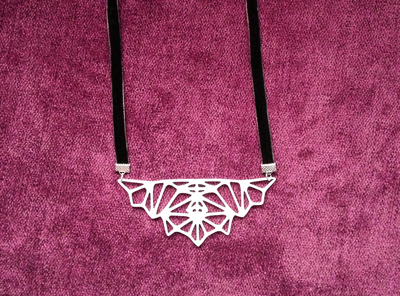 Rorschach test necklace - 3D design by Mirka Biel May 1, 2017