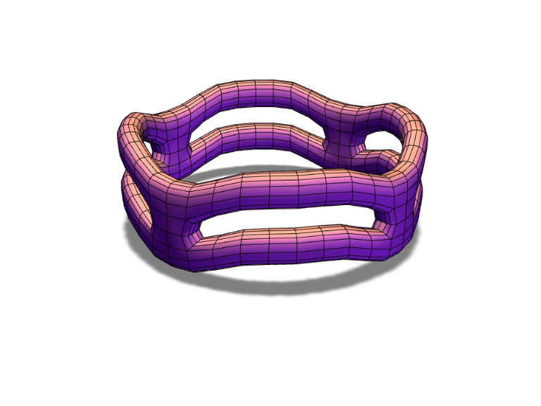 wavy ring - 3D design by ilmar3designs Sep 15, 2017