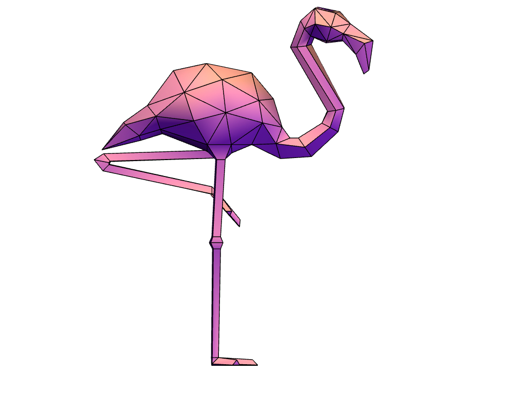 Flamingo - 3D design by Renata De Franceschi Felipini Apr 30, 2018