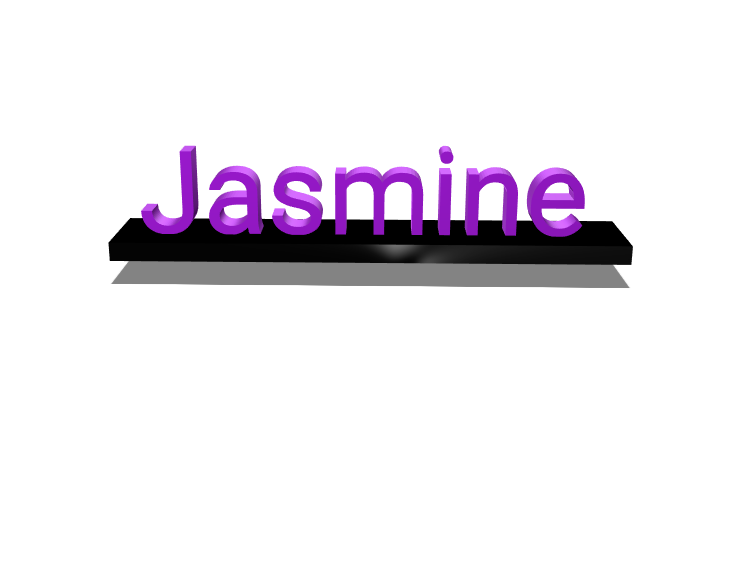 Name Plate - 3D design by jasmine.looi on Mar 28, 2018