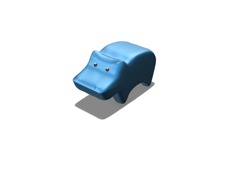 hippo - 3D design by abbywalters Apr 26, 2018