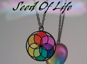 Seed of Life Pendant Necklace. Style #1 - 3D design by naomi.kendall Sep 12, 2017
