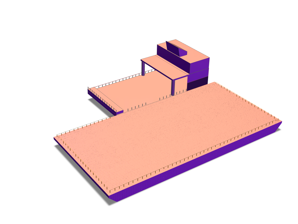 Barge Boat - 3D design by Adam Nicholas Oct 11, 2017