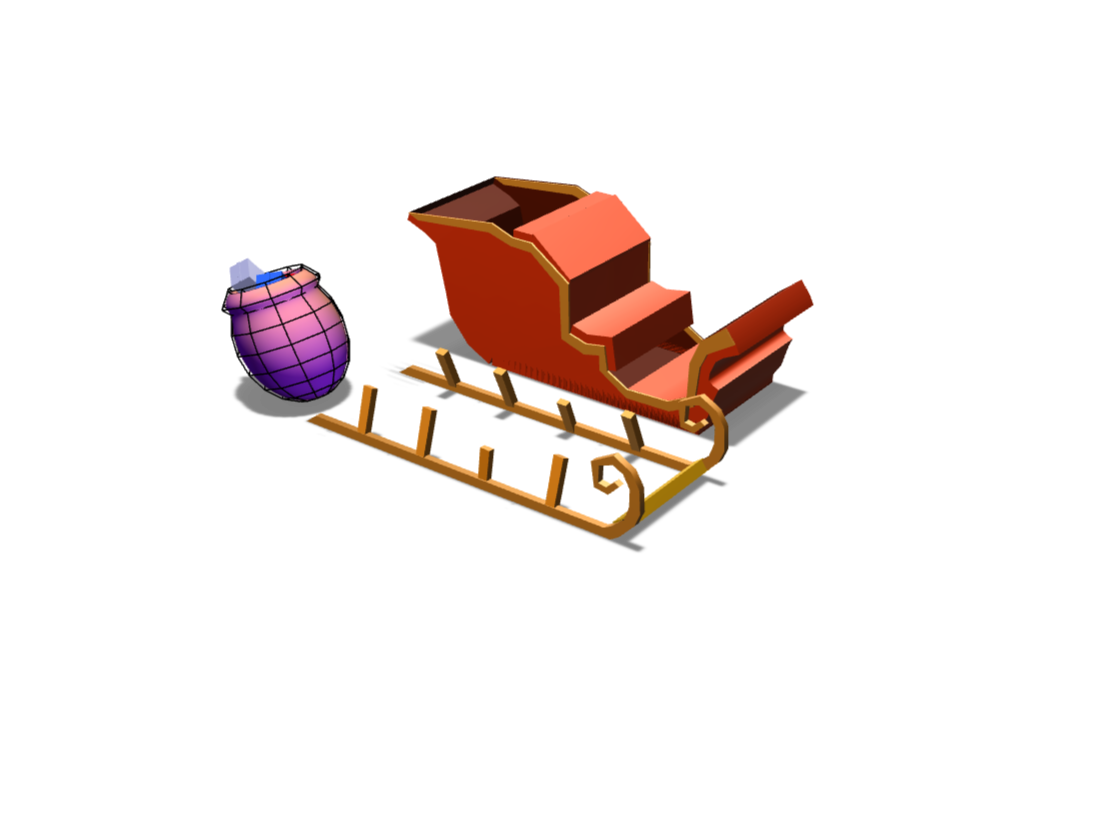 Santa Sled - 3D design by chilaire on Nov 18, 2017