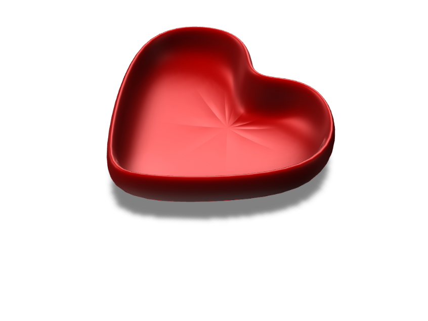 Heart Bowl - 3D design by Master Friclya Sep 10, 2017
