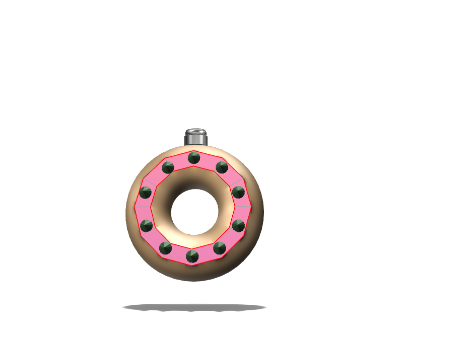 Xmas Donut Ornament - 3D design by pmehta21 Dec 6, 2017