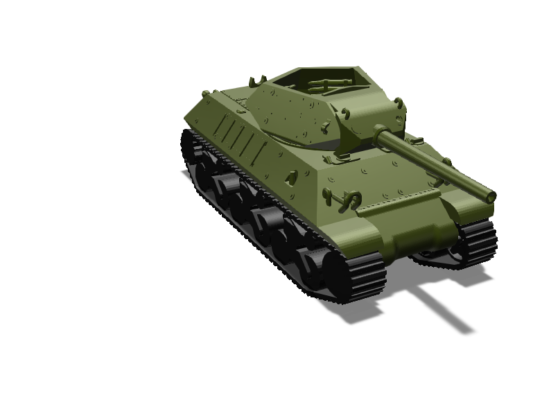 Sherman tank - 3D design by rowan headrick Feb 18, 2018