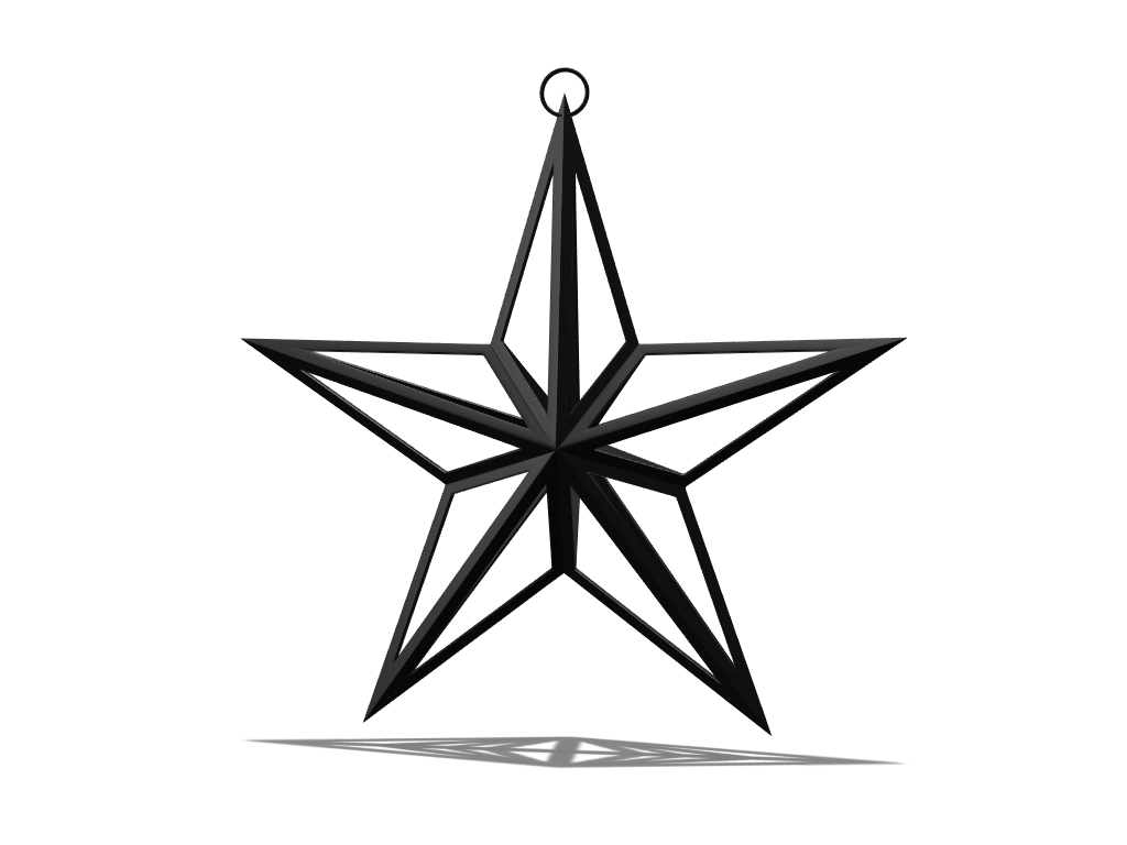 Black star - 3D design by markow on Dec 19, 2017