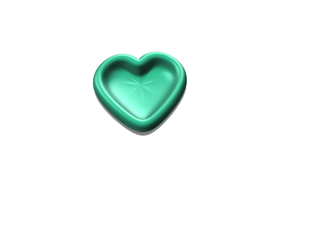 Heart Bowl - 3D design by aafield Apr 6, 2018