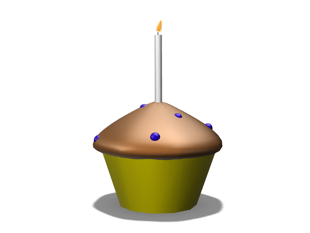 Birthday Muffin! - 3D design by Tyler Rose May 24, 2018