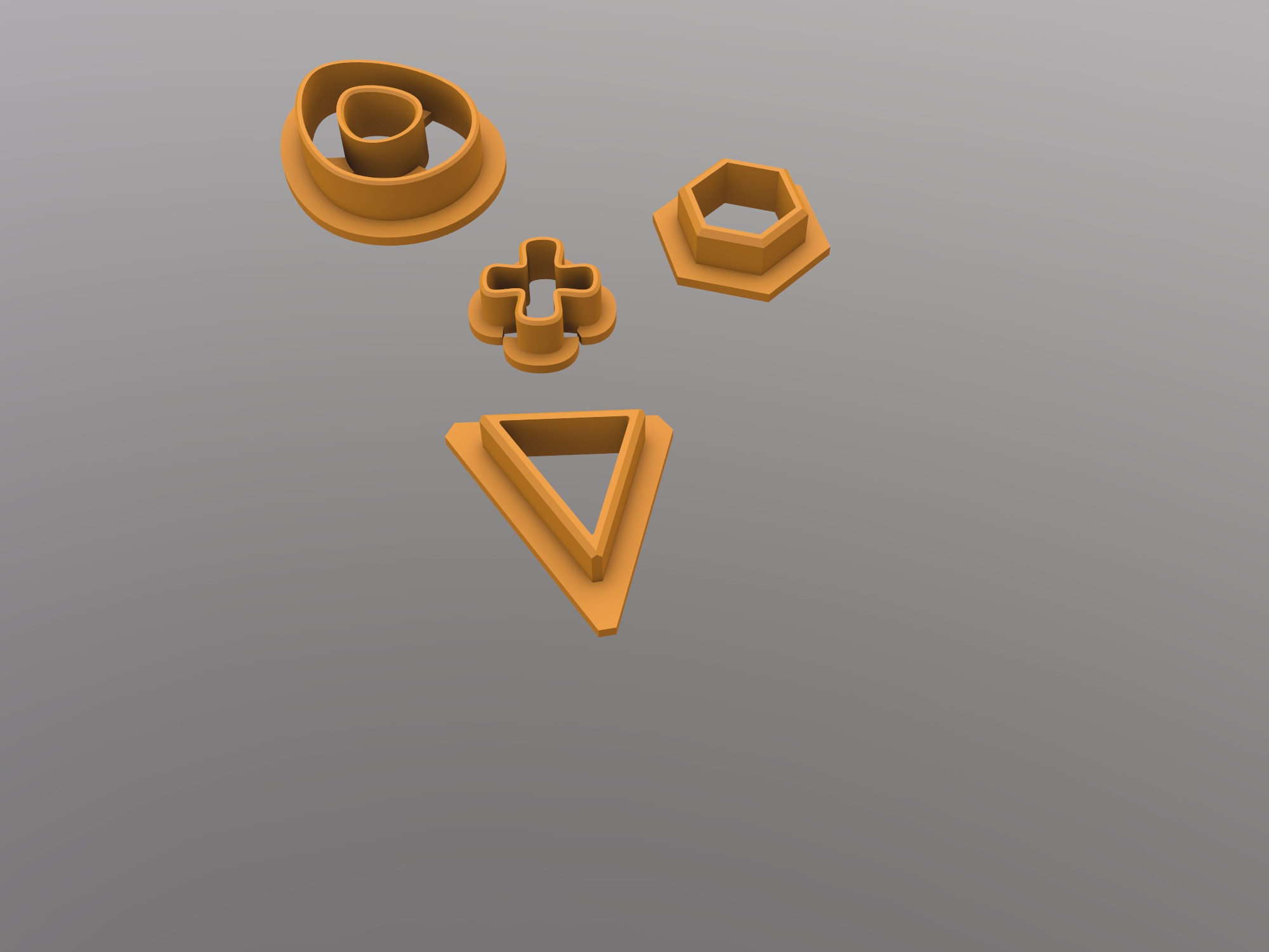 cookie cutters - 3D design by Johanna Rydeman on Oct 19, 2018
