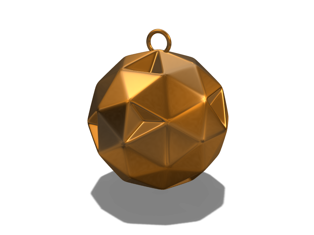 Polyhedron bauble - 3D design by fewowuzeco on Dec 20, 2017