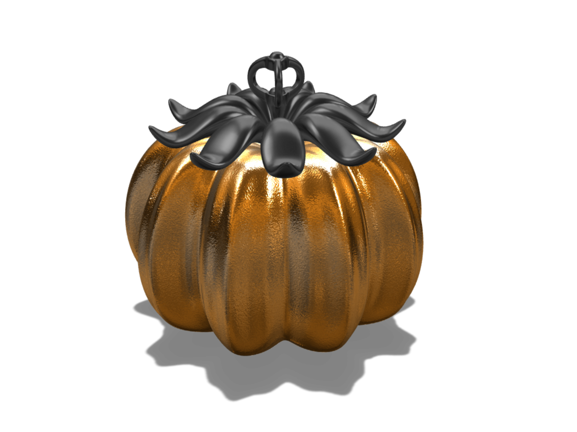 Pumpkin pendant - 3D design by VECTARY Oct 23, 2017