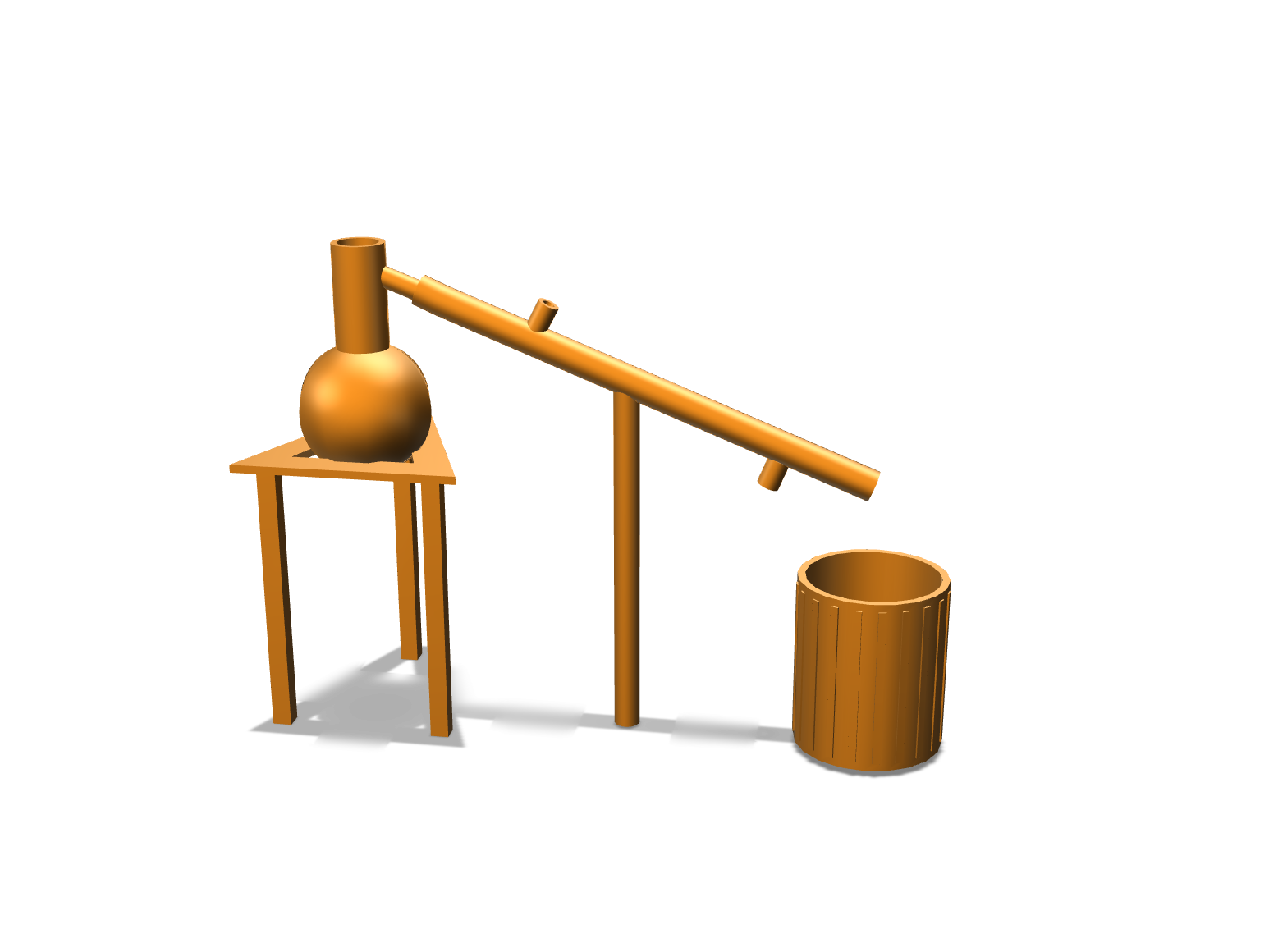 Distillation modle  - 3D design by elisa.pinkerrego.22 on Nov 12, 2017