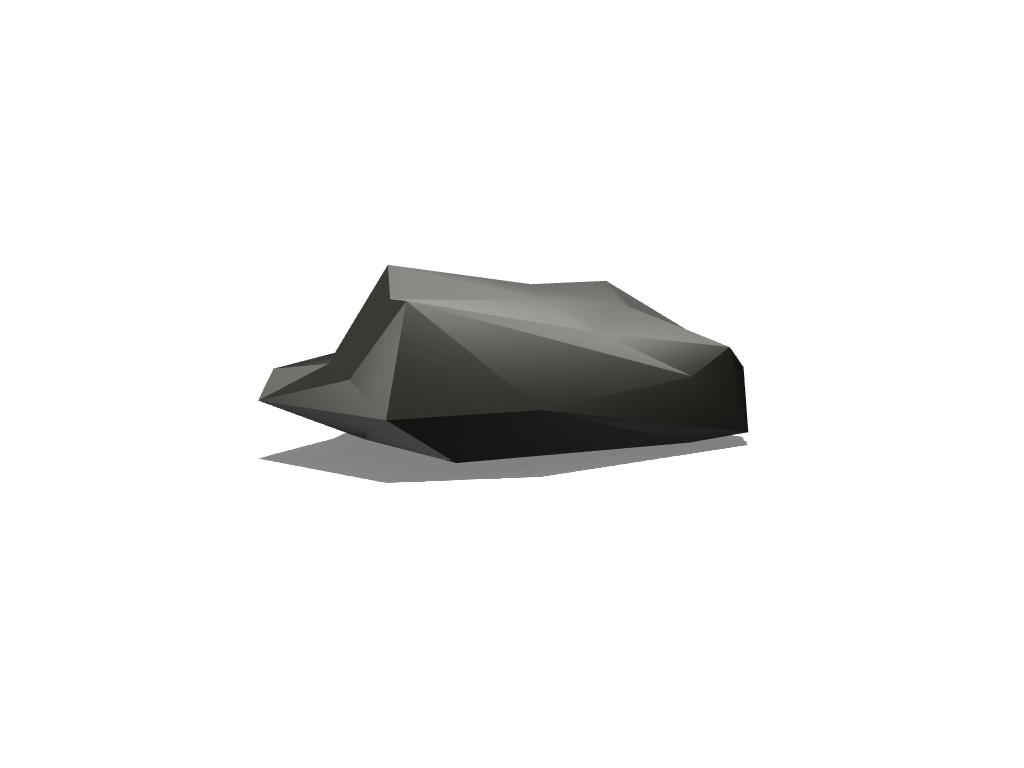 Low Poly Rock 02 - 3D design by Robin Grass Nov 29, 2017