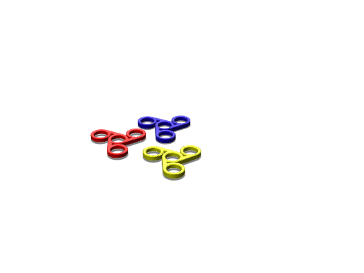 3 Colour Fidget spinner - 3D design by victorinepaulo on Jun 4, 2017