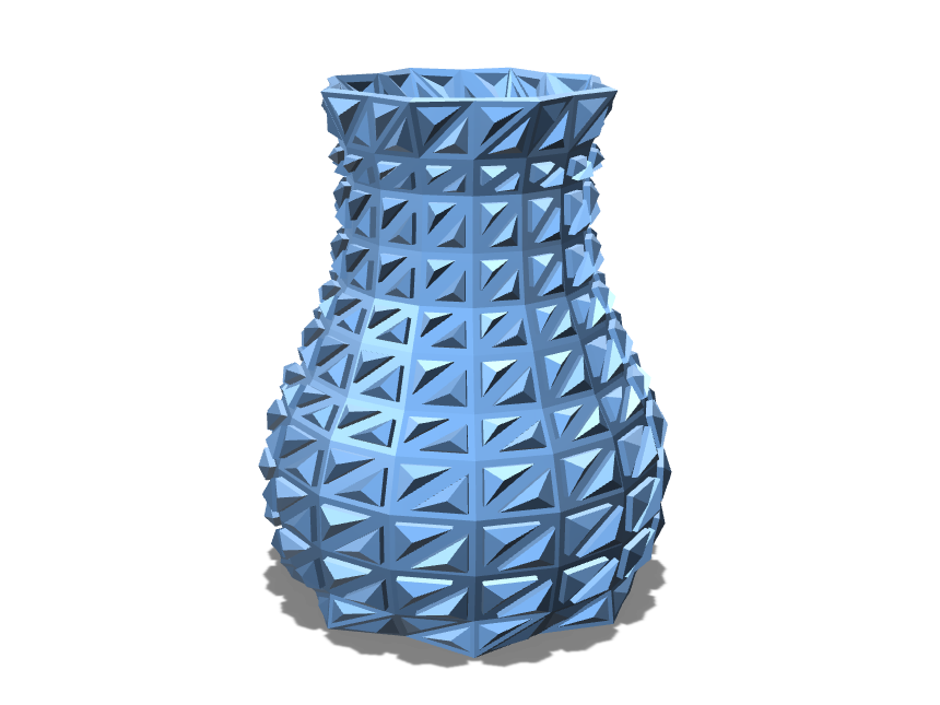 The Trigonal Vase - 3D design by Enish Pastagia on Sep 11, 2017