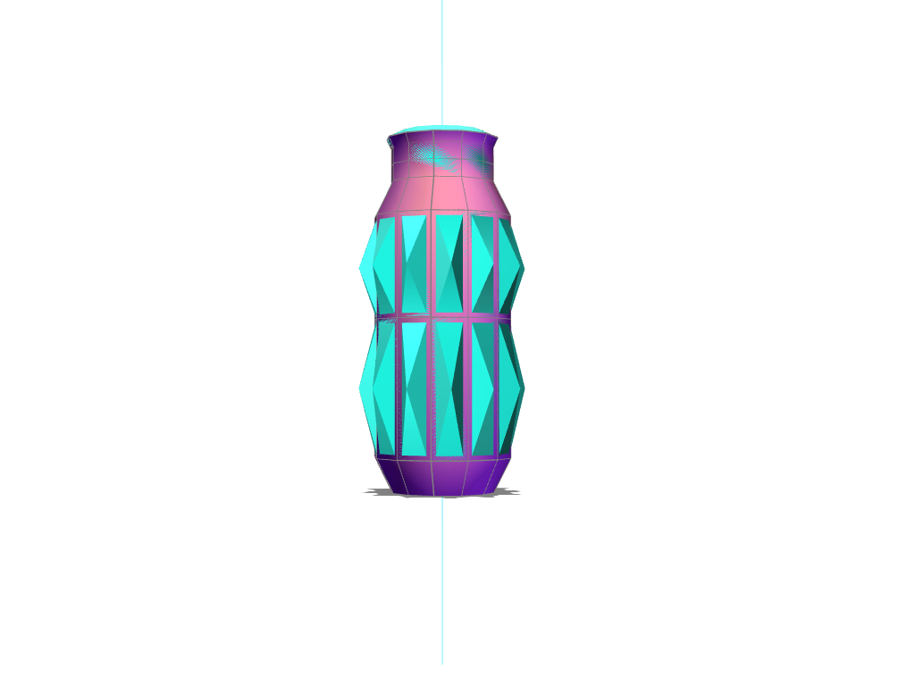 Geometric Vase - 3D design by z_farley on Aug 21, 2017