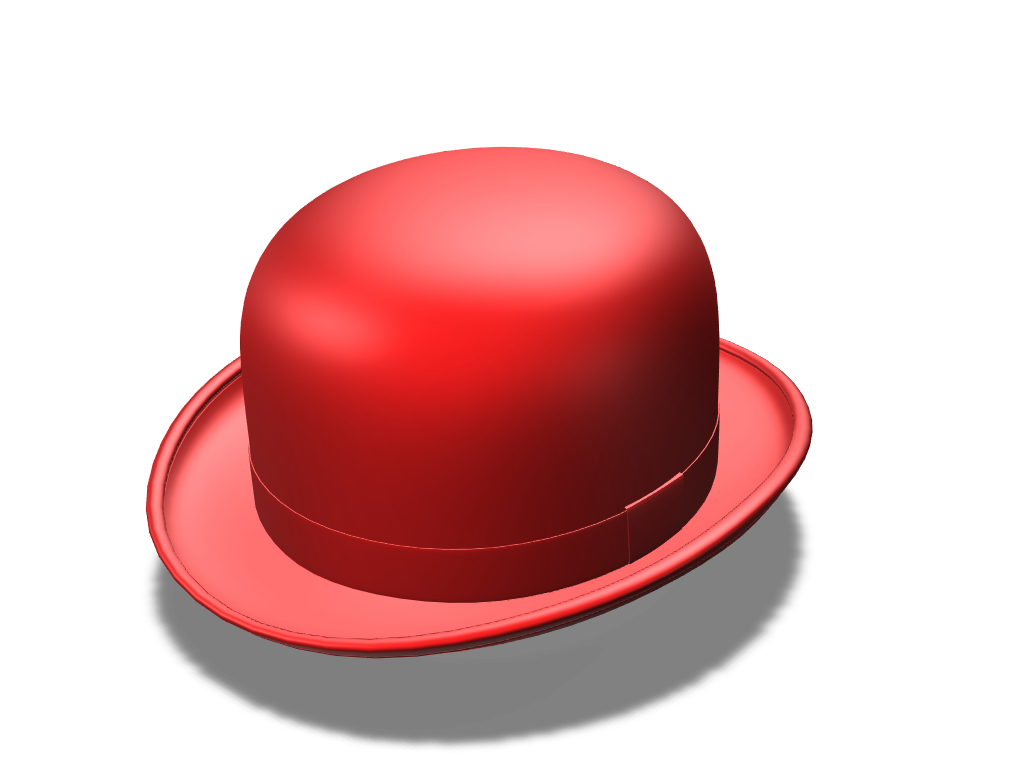 Red Bowler Hat - 3D design by mbs Mar 21, 2018