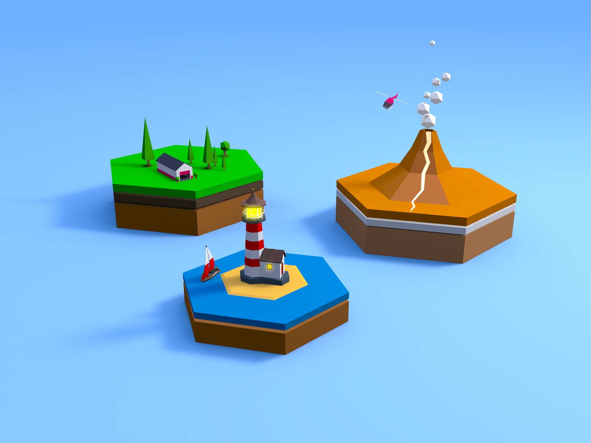 Mini Worlds - 3D design by Milan Gladiš Jun 7, 2018