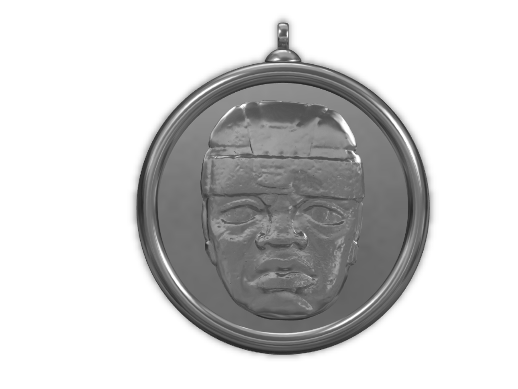 Olmec-Locket - 3D design by Omni-Moulage on Aug 29, 2017