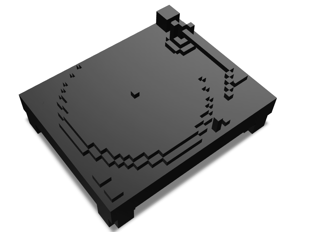 Record Player Minecraft Freats - 3D design by Mark Boy on Mar 2, 2018