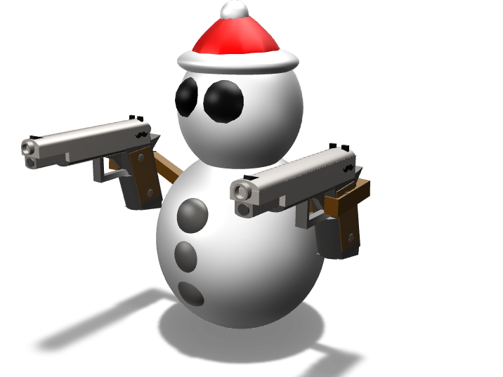 snowman with guns - 3D design by Mr. z on Nov 17, 2017