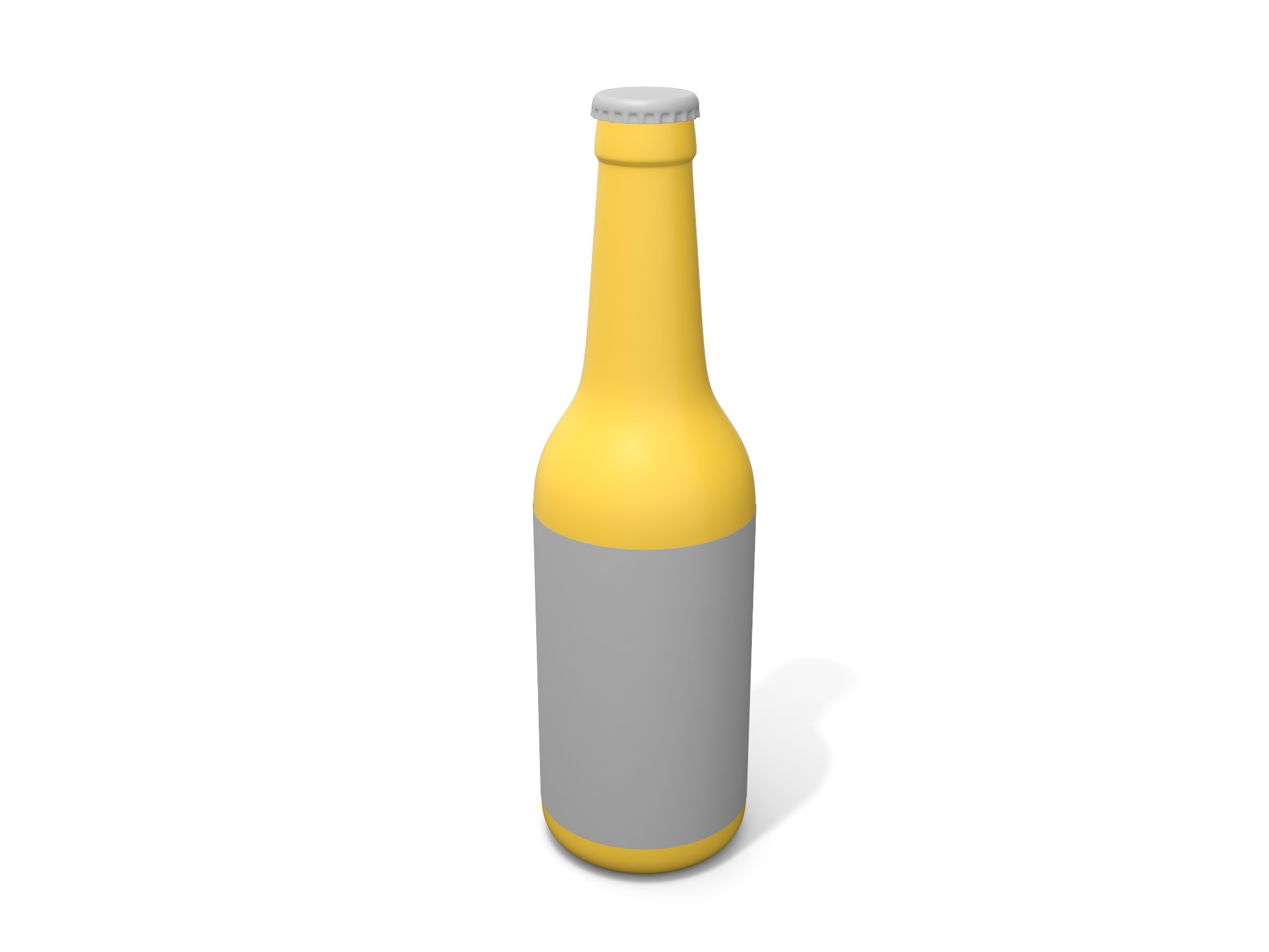 Beer bottle - 3D design by Vectary assets Nov 7, 2018