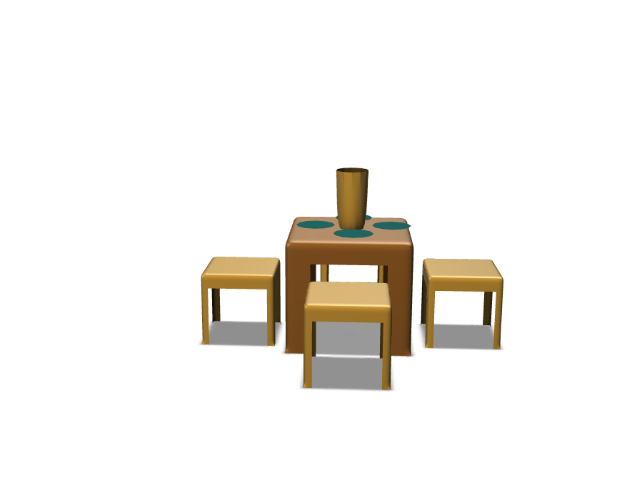 Table & Chairs - 3D design by dbeltran21 Nov 10, 2017