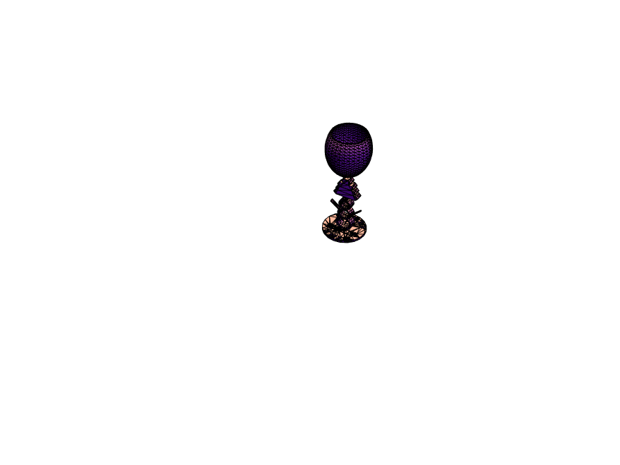 Decorative X-mas wine glass - 3D design by mnmmaloney Dec 19, 2017