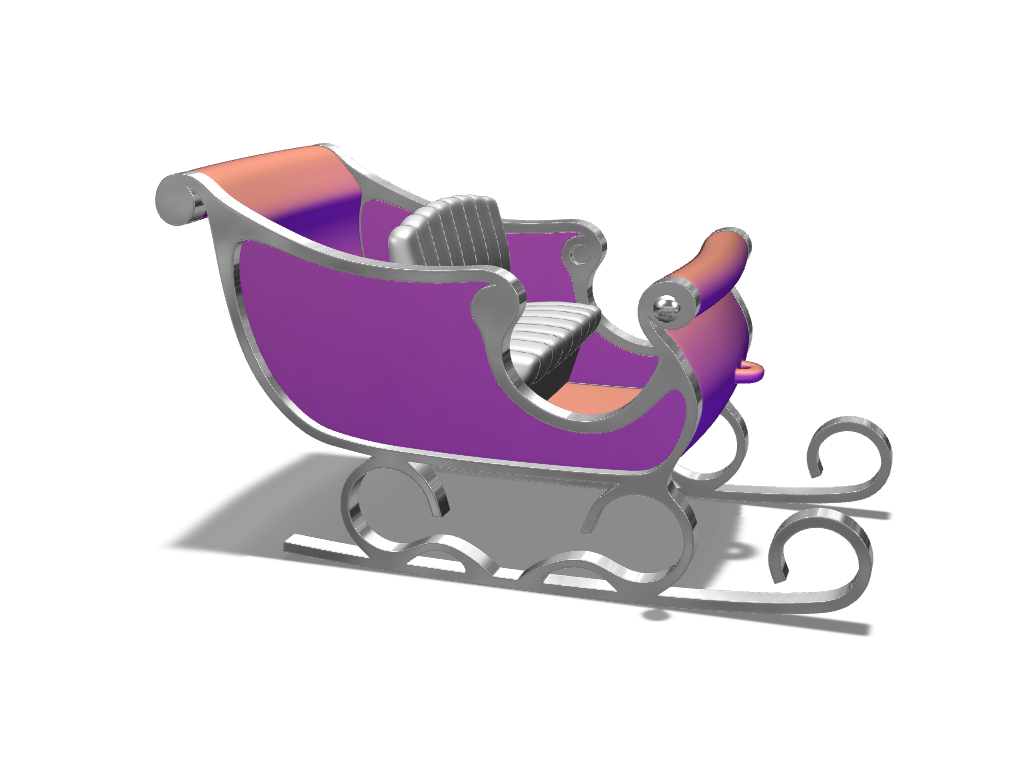 Santa's sledge - 3D design by VECTARY Nov 23, 2017