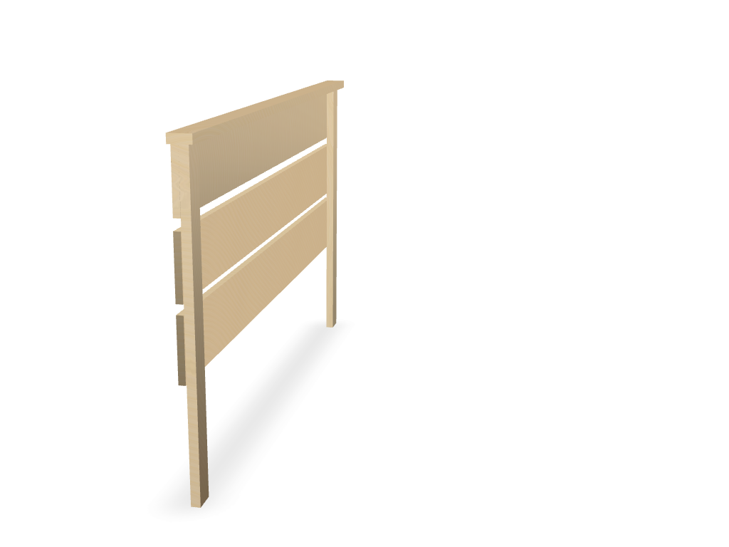 Bed Frame - 3D design by Oltion Prifti on Apr 16, 2018