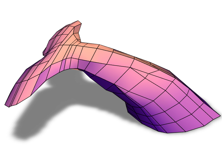 Whale tail - 3D design by Lukas Blank on Feb 19, 2018