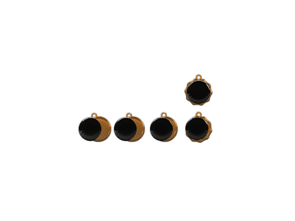 Eclipse Necklace Pendants - 3D design by Maureen Nemetski Aug 20, 2017