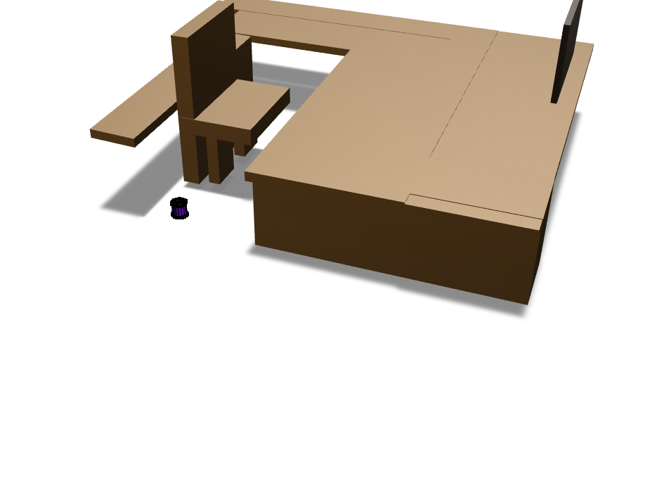 Table and chair  - 3D design by msahagun22 Nov 10, 2017