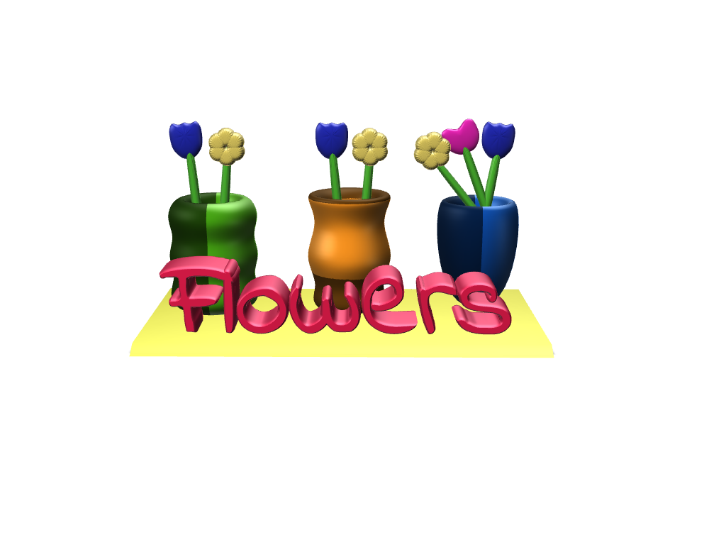 Flower Stand - 3D design by Maureen Nemetski Aug 28, 2017