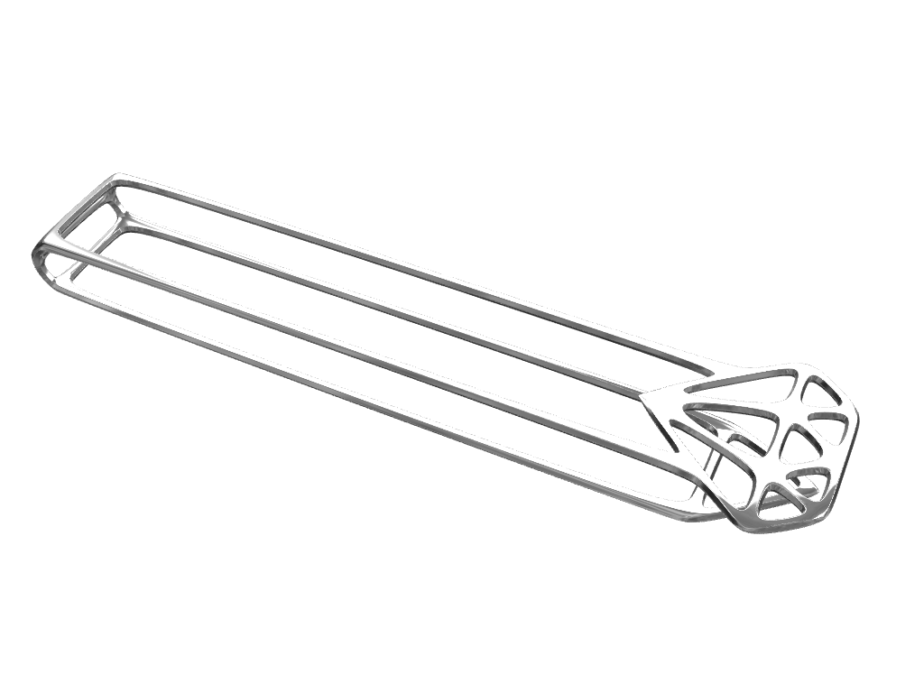Skeleton Diamond Tie Clip - 3D design by Michal Fanta Sep 15, 2017
