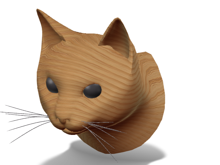 wooden cat - 3D design by Madrone on May 21, 2018