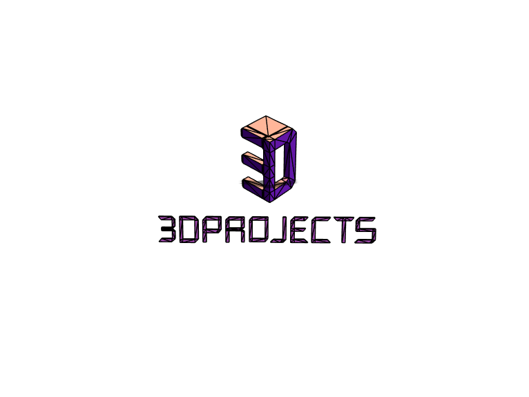3D projects logo - 3D design by MrKondoros on Apr 2, 2018